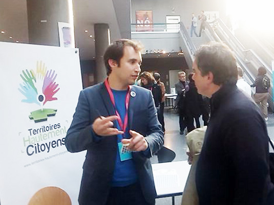 Armel Le Coz présente le programme Territoires Hautement Citoyens à Alexandre Jardin