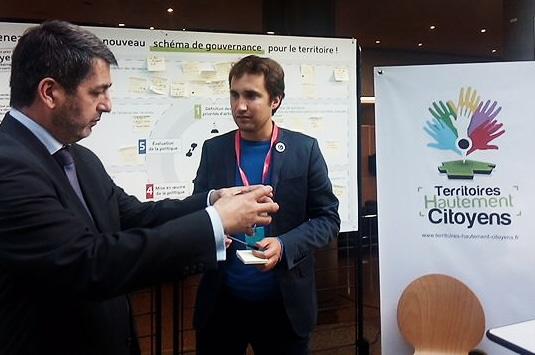 Jean Rottner et Armel Le Coz à Mulhouse pour le lancement de Territoires Hautement Citoyens