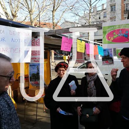 Expérimentation sur un marché Conseil de Quartier Paris