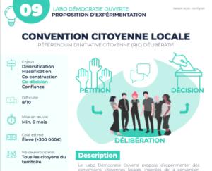 Proposition d'expérimentation d'une convention citoyenne locale