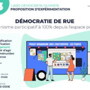 """Une de la fiche pratique présentant l'expérimentation """"Démocratie de rue"""""""